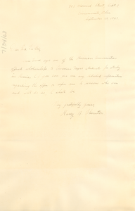 Letter from Harry B. Thornton to W. E. B. Du Bois