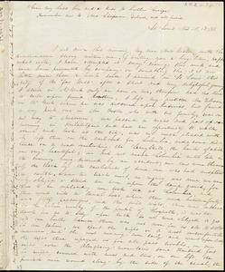 Letter from Sophia Davenport, St. Louis, [Missouri], to Caroline Weston, 1835 Nov[ember] 15