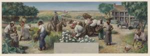 Past and Present Agriculture and Industry of Colleton County (mural study, Walterboro, South Carolina Post Office)
