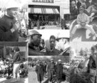Images of a student demonstration at Tuskegee Institute to protest the murder of Samuel L. Younge, a civil rights worker.