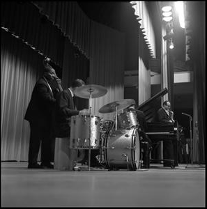 [Dave Brubeck Quartet from right side of stage]