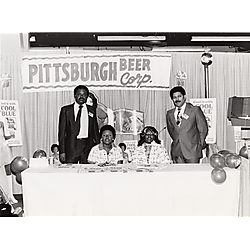 Product show at Syria Mosque, Pittsburgh Beer Corp. display