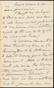 Letter from Parker Pillsbury, Belfast, [Ireland], to William Lloyd Garrison, October 5. 1854