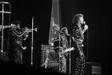 The Commodores during a concert at the civic center in Birmingham, Alabama.