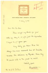 Letter from Elmer Adler to W. E. B. Du Bois
