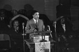 Joseph Lowery speaking to an audience at St. Paul AME Church in Birmingham, Alabama.
