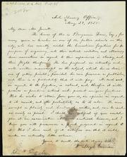 Letter to] My dear Mr. Jewett [manuscript