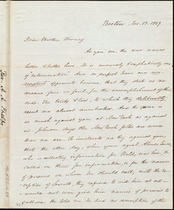 Letter from Amos Augustus Phelps, Boston, to James Gillespie Birney, Nov. 13. 1839