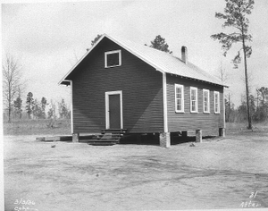 Bleckley County African American school after being rebuilt by WPA