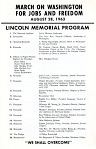 Program, March on Washington for Jobs and Freedom