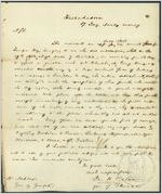 Letter, 1836 Jan. 17, Tallahassee [Florida to] Gov[ernor] W[illia]m Schley / John H. Eaton