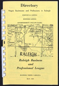 Negro Businesses and Professions in Raleigh [1969]