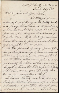 Letter from James Clarke White, Cin[cinnati],O[hio], to William Lloyd Garrison, Feb[ruary] 25 / [18]79