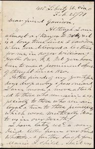 Letter from James Clarke White, Cin[cinnati],O[hio], to William Lloyd Garrison, Feb[ruary] 25 / [18]79