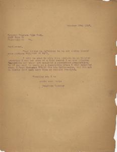 Letter: Macon, Georgia to the Colored Players Film Corporation, Philadelphia, Pennsylvania, 1927 Oct. 28