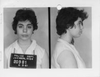 Mississippi State Sovereignty Commission photograph of Del Greenblatt following her arrest for her participation in a Freedom Ride, Jackson, Mississippi, 1961 June 9