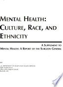 Mental health : culture, race and ethnicity