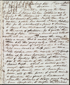 Letter from Esther Sturge, New Kent Road, London, [England], to Maria Weston Chapman, 1st [day] 4 mo[nth] (April) 1844