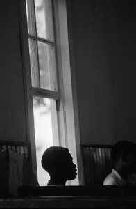 Young boy at a Freedom School during Freedom Summer, Mississippi, 1964