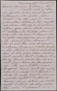 Letter from Deborah Weston, Weymouth, [Mass.], to Maria Weston Chapman and Anne Greene Chapman Dicey, Feb. 22nd, 1861