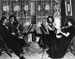 Quartet plays at hospital reception