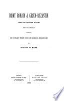 Droit romain & gréco-byzantin chez les peuples slaves; avec un appendice contenant un extrait serbe des lois romano-byzantines