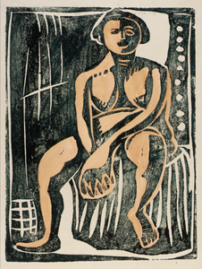 Nude Seated--Front View