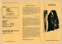 ADEFRA: Afro-German/ Black Women pamphlet, 1993