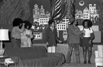 Scene from a play with members of the Paul Robeson Players