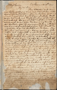Letter from Simeon Smith Jocelyn, New Haven, [Connecticut], to William Lloyd Garrison, 1831 Sept[ember] 20th