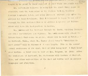 Biography of Diedrich Westermann [incomplete]