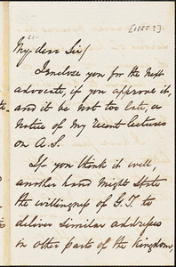 Letter from George Thompson to John Bishop Estlin