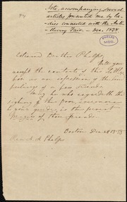 Letter to] Esteemed Brother Phelps [manuscript
