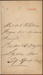 Inscription by Frederick Douglass to Huldah B. Gilson, dated April 29, 1847