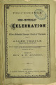 Proceedings of the semi-centenary celebration of the African Methodist Episcopal Church of Cincinnati, held in Allen Temple, February 8th, 9th, and 10th, 1874 : with an account of the rise and progress of the colored schools, also a list of the charitable and benevolent societies of the city