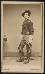 [Colonel Walter Raleigh Robbins of Co. A, 14th New York Infantry Regiment and Co. G, 1st New Jersey Cavalry Regiment in uniform with sword]