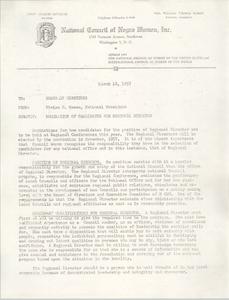 National Council of Negro Women, Inc. Memorandum and Dossier