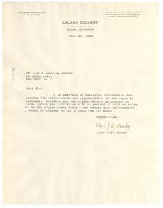 Letter from Mrs. J. E. Mosley to W. E. B. Du Bois