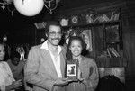 C. Tillery Banks posing with an unidentified man at The Candy Store, Los Angeles, 1980