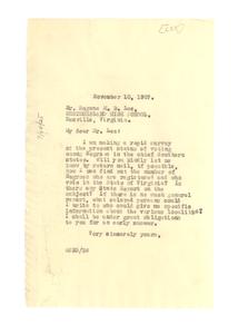 Letter from W. E. B. Du Bois to Eugene M. B. Lee