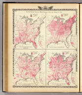 United States vitality maps, compiled from the Census of 1870. Deaths from malarial diseases. Deaths from consumption. Deaths from enteric, cerebro-spinal and typhus fevers. Deaths from intestinal diseases. (Union Atlas Co., Warner & Beers, Proprietors. Lakeside Building Cor: of Clark & Adams Sts. Chicago. 1876. Entered ... 1876 by Warner & Beers ... Washington D.C.) Atlas of the State of Illinois to which are added various general maps, history, statistics and illustrations. Union Atlas Co., Warner & Beers, Proprietors. Lakeside Building Cor: of Clark & Adams Sts. Chicago. 1876. Entered ... 1876 by Warner & Beers ... Washington D.C. United States vitality maps, compiled from the Census of 1870.