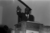 William M. Branch speaking to an audience at First Baptist Church in Eutaw, Alabama.