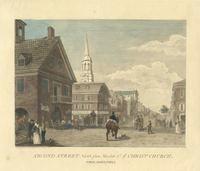 Second Street north from Market St. wth. Christ Church. Philadelphia