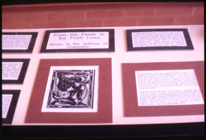 A drawing and information display on roles of slaves in defense of Charleston, Fort Sumter, South Carolina