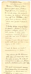 The Garrison pledge of the Niagara Movement