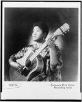 [Odetta, half-length portrait, holding guitar]