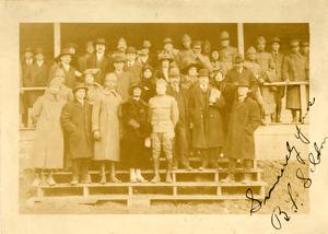 Group at opening of Buffalo's Auditorium, Camp Upton