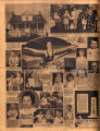 Photomontage of a house, a child with her dolls, an Olympic diver, portraits of Tennessee children, and four ads. Nashville Banner, 1932 May 8