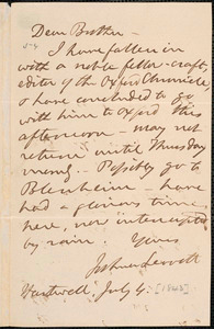 Letter from Joshua Leavitt, Hartwell, to Amos Augustus Phelps, 1843 July 4