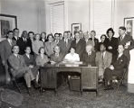Samuel Evans with Boardmembers at Rittenhouse Hall